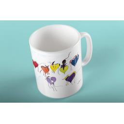 Rainbow Hearts 11oz mug