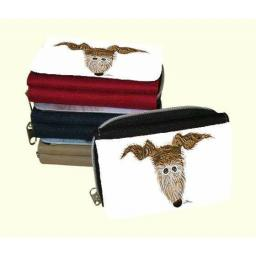 Brindle Hairy Hounds - 2 designs - Zipped Canvas Purse