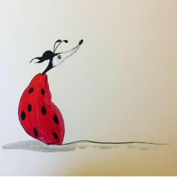 The Lady Bug - by Nellie Doodles