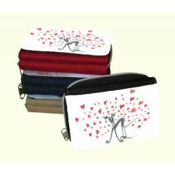 Tail of love or 3 other designs - Zipped Purses in red