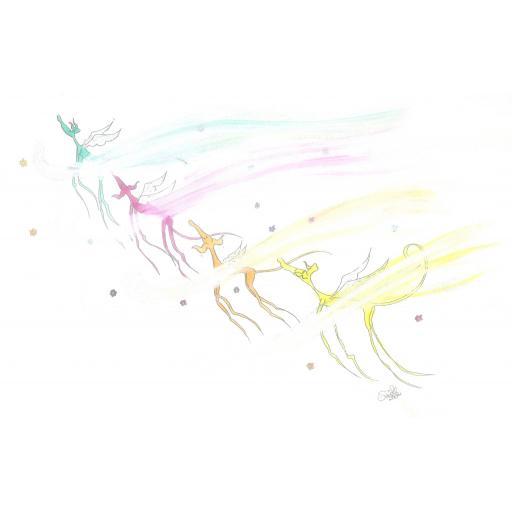 Rainbow Bridge - A4 print by Nellie Doodles