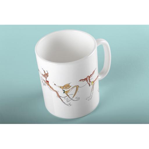 3 Pongos 11oz mug - design Nellie Doodles
