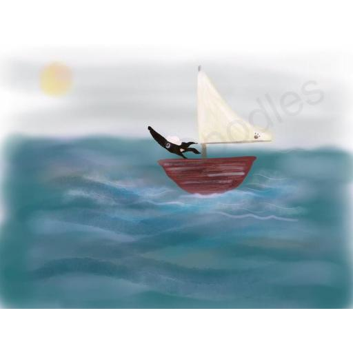 Sailing the Seas - A4 print by Nellie Doodles