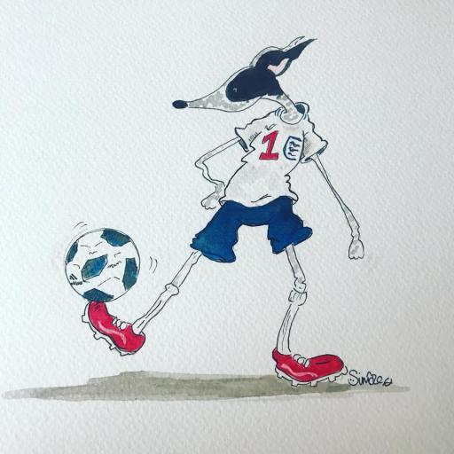 Nellie Doodles Footballing Hound