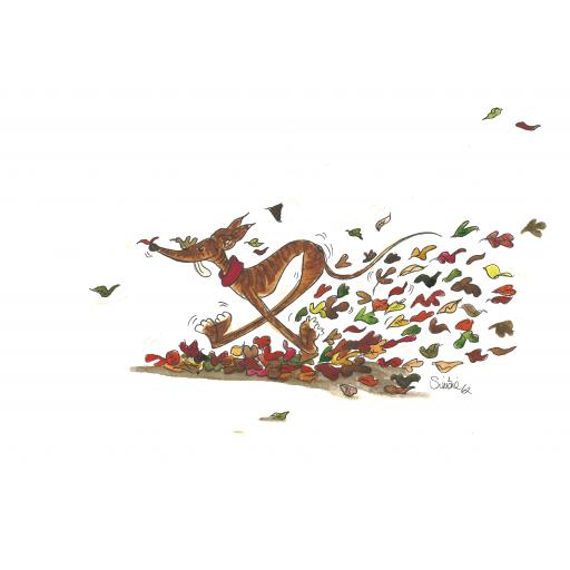Autumn Zoomie - A4 print, A5 or A6 blank card