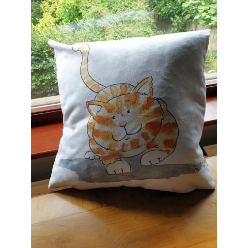 Norbert the Kitty - cushion and floor cushion - vegan friendly