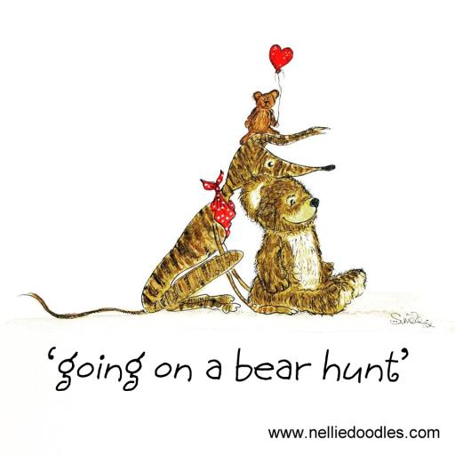 Going on a Bear Hunt window sticker