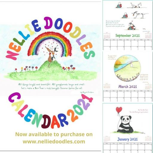 2021 Nellie Doodles A4 Calendar